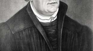 Martin Luther 1483 to 1546 German theologian after a painting by Lucas Cranach the Elder 1472