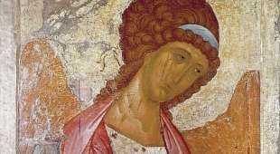The Archangel Michael, by Andrei Rublev or Andrej Rubljov (1360-1430), painted between 1410 and 1420, Icon. ...