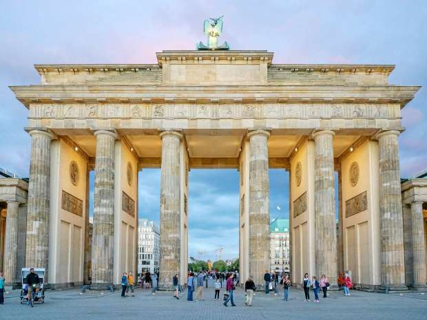 Germany: Berlin's Brandenburg Gate seen from the west. Photo from 20 August