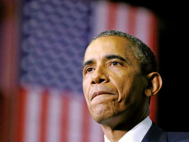 U.S. President Barack Obama pauses while speaking about during a visit to Pellissippi State College in ...