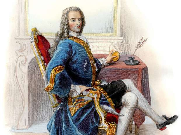 François-Marie Arouet, known by the pen name Voltaire. French Enlightenment writer, historian and ...