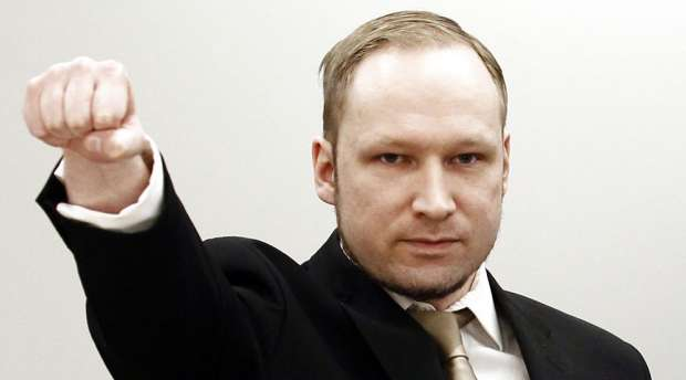 (FILES) A photo taken on April 16, 2012 shows rightwing extremist Anders Behring Breivik, who killed 77 ...